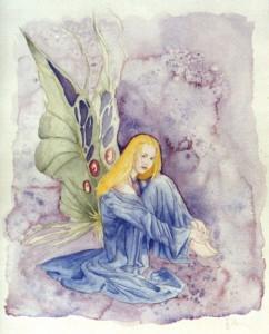Ilustración, acuarela, Hada, venta de cuadros pintados a mano