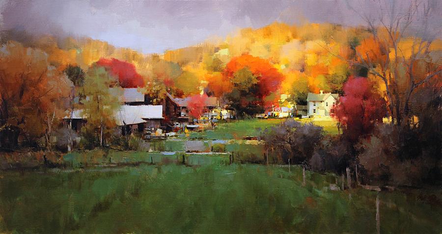 Pintura de paisajes. A Ray of Light