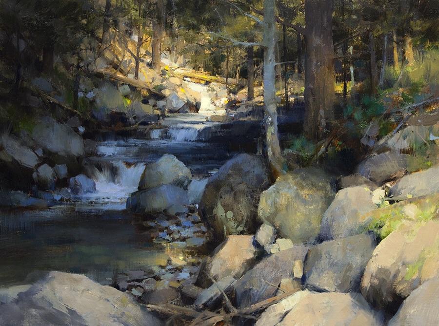 Pintura de paisajes. A Well Lighted Place