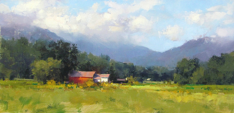 Pintura de paisajes. Mark Boedges. Bright And Sunny
