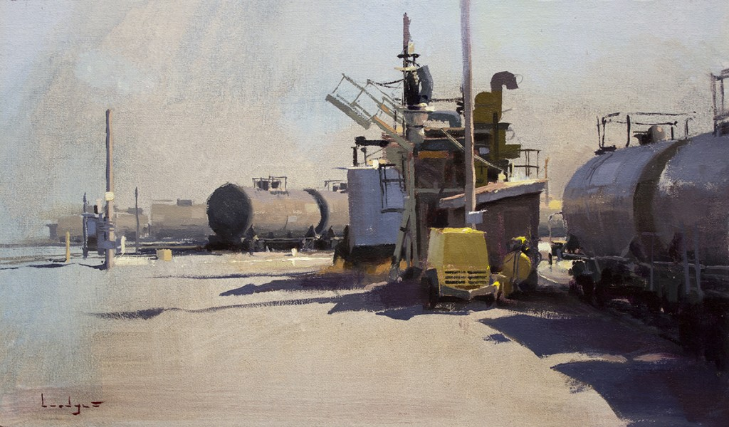 Pintura de paisajes. Burlington Rail Yard 2