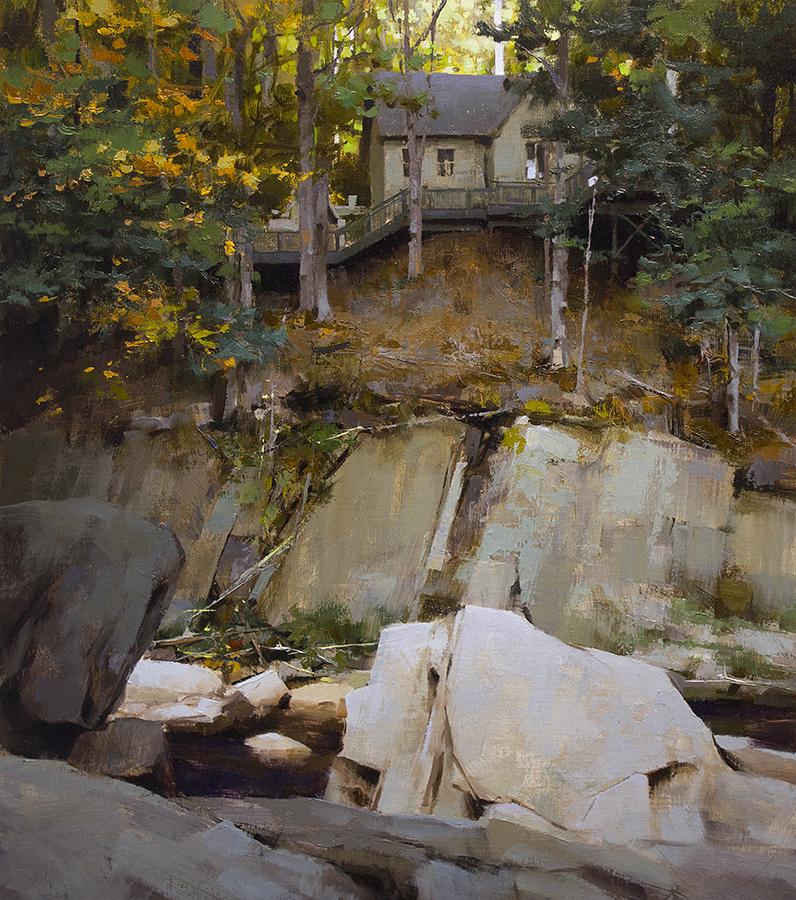 Pintura de paisajes. Cliff House