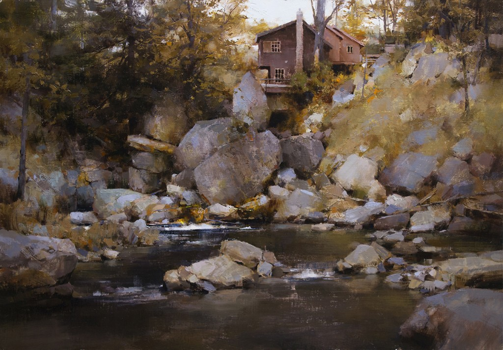 Pintura de paisajes. Mountain Retreat