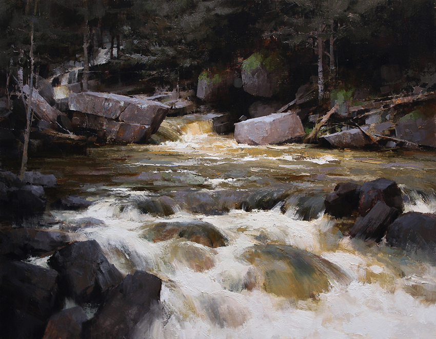 Pintura de paisajes. Stormy Waters