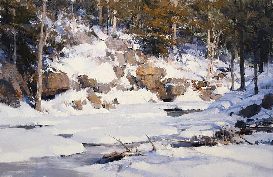 Pintura de paisajes. Winters Complex Pattern