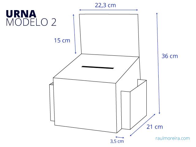 medidas urna cartón montada