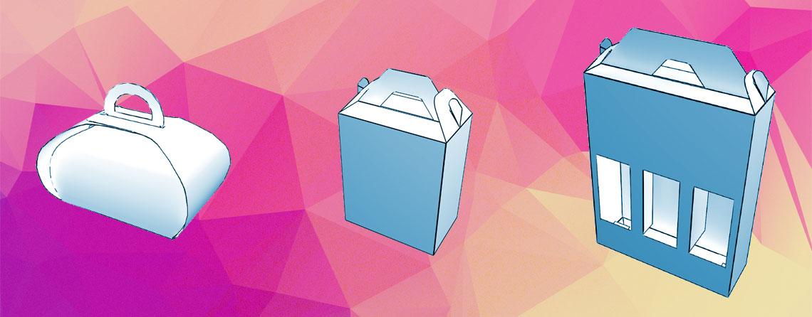 Diseño de packagin para llevar. cajas de chocolate y botellas