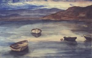 Pintura, acuarela, Marina, venta cuadros decorativos