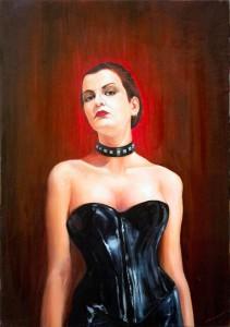 Pintura, óleo, Rosa Negra, donde comprar cuadros en Madrid