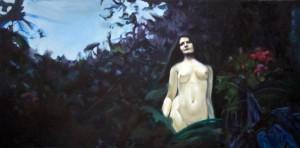 Pintura, óleo, Señora Oscura, Venta de cuadros originales en Madrid