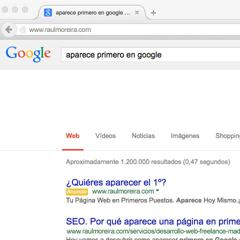 Desarrollo web freelance Madrid y posicionamiento en buscadores