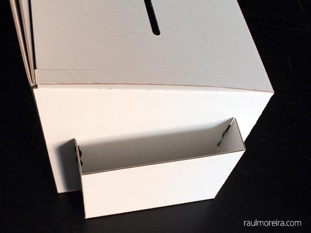 urnas de cartón para votación detalle folder