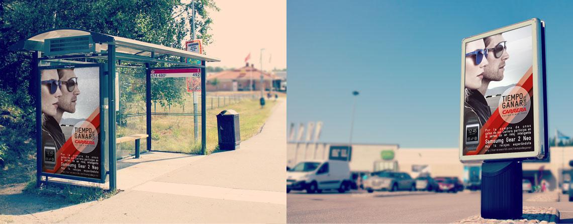Diseño de publicidad exterior freelance en Madrid