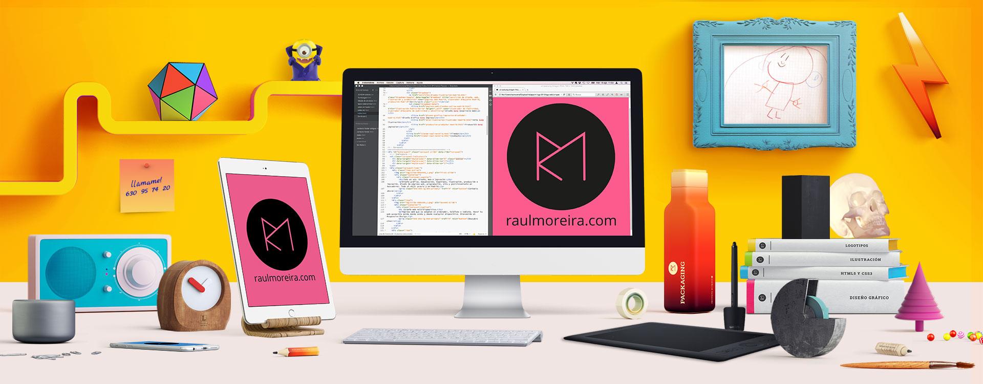 Servicios de diseño de sitios web y logotipos en Madrid, pintura, ilustración y producción gráfica