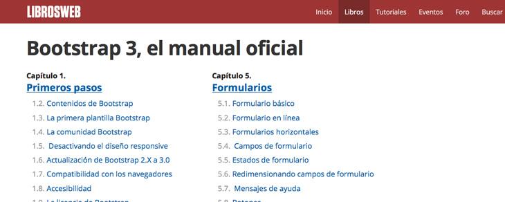 recursos gratis para Bootstrap - Manual Bootstrap 3 en español