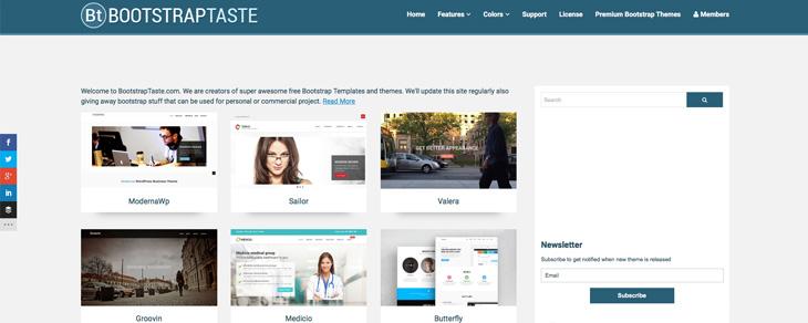 recursos gratis para Bootstrap - BootstrapTaste