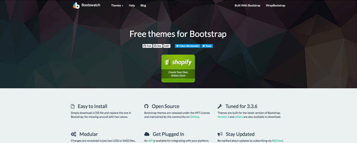 recursos gratis para Bootstrap - Bootswatch