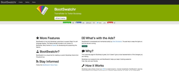 recursos gratis para Bootstrap - Bootswatchr