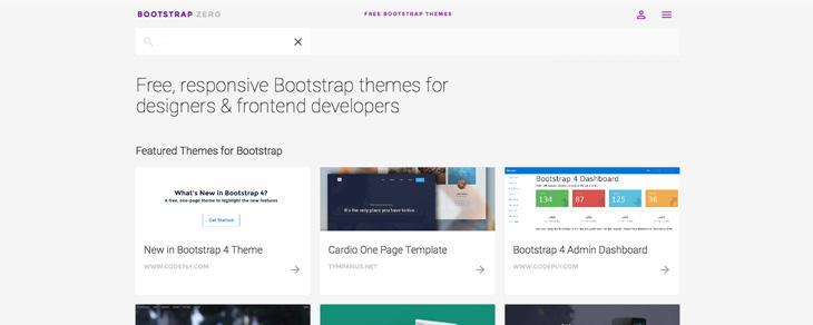 recursos gratis para Bootstrap - Bootstrap Zero