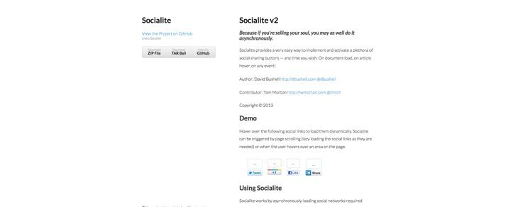 recursos gratis para Bootstrap - Socialite