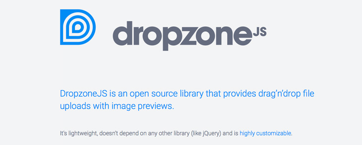 recursos gratis para Bootstrap - DropzoneJS