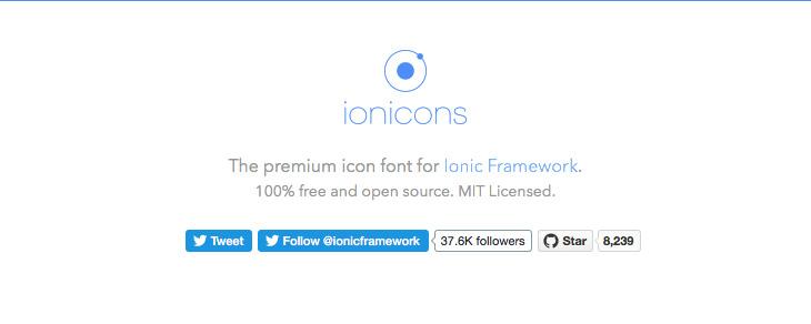 recursos gratis para Bootstrap - Ionicons