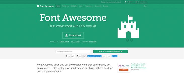 recursos gratis para Bootstrap - Font Awesome