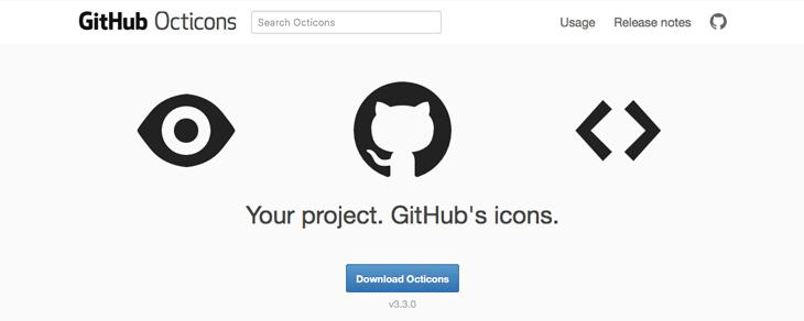 recursos gratis para Bootstrap - Octicons