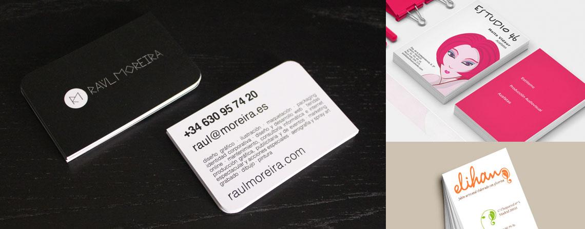 Diseño de tarjetas de visita en Madrid