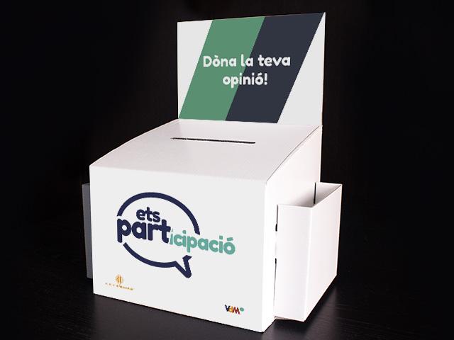 venta urnas de cartón para votación