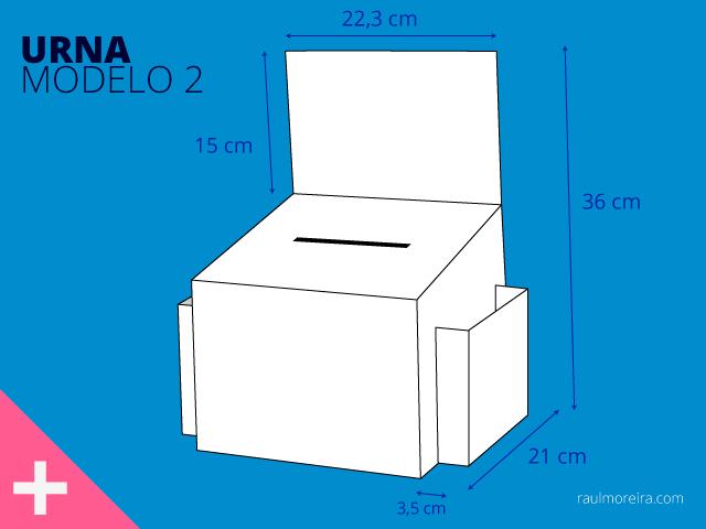 venta de urnas de cartón para votación modelo 2